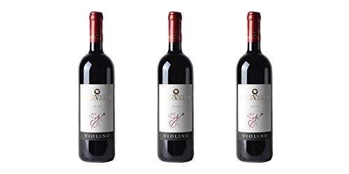 3 Bottiglie di Bonarda Frizzante DOC'Violino' | Cantina Paravella | Annata 2016