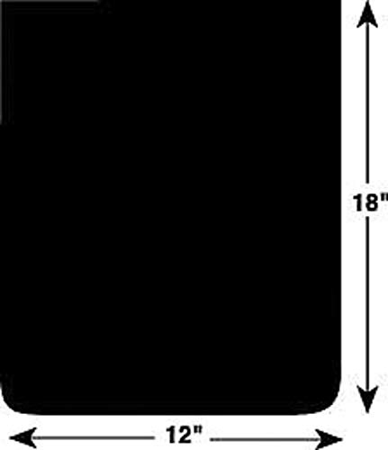 Buyers Products 3VUH3 12X18 MUD Flaps, PR, Black
