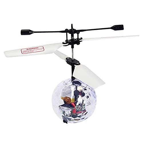 RC Flying Ball Toys, ricaricabile Light Up Ball Drone ad induzione a infrarossi con telecomando, musica da discoteca integrata con illuminazione a LED Shinning gioco per interni ed esterni