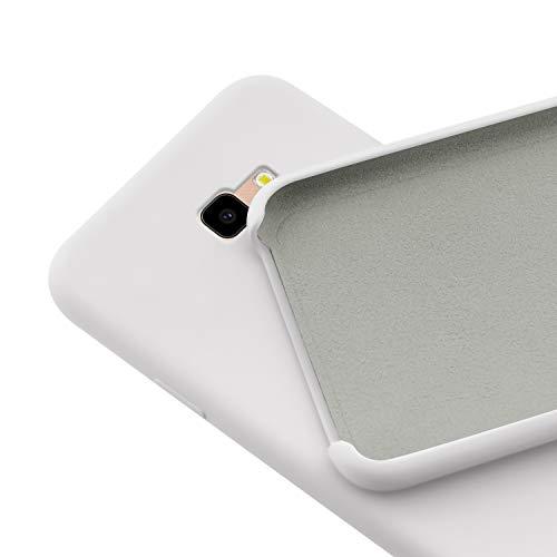N NEWTOP Custodia Cover Compatibile per Samsung Galaxy J4 Plus, Ori Case Guscio TPU Silicone Semi Rigido Colori Microfibra Interna Morbida (Bianca)