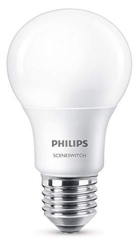 Philips 3-in-1 LED Lampe SceneSwitch ersetzt 60W, EEK A+, E27 Standardform, Dimmen ohne Dimmer, 8718696588840