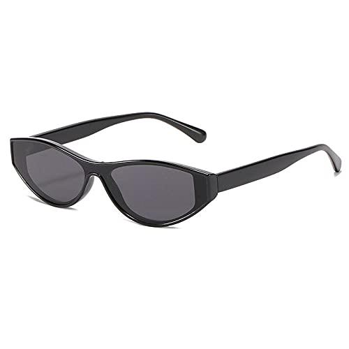 YHKF Gafas De Sol De Ojo De Gato Sexis Vintage para Mujer, Gafas De Sol Triangulares para Mujer, Montura Pequeña, Gafas para Mujer, Gafas Uv400-Black_Grey
