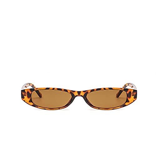 U/N Mujeres Hombres Gafas de Sol de Montura pequeña Unisex Marrón Leopardo Rojo Negro Gafas de Sol pequeñas para Mujeres-3
