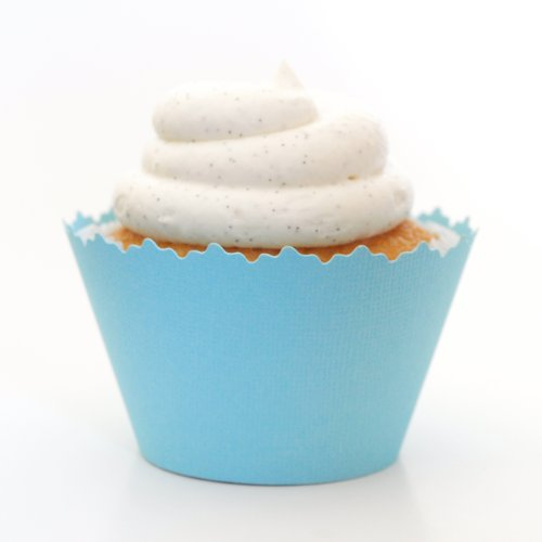 Cupcake Wrappers Solid Colors Adjustable - Set of 12 (Light Blue)