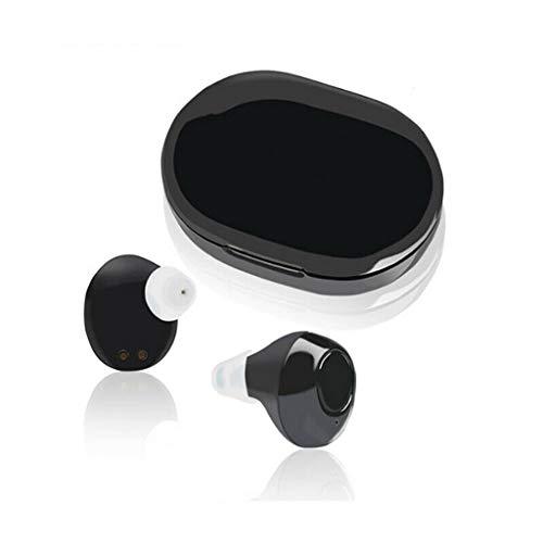 Black Gehoorapparaat, digitale verstelbare binaural in-ear geluidsversterkers het verbeteren van gehoor ouderen Hörverstärkungsgerät