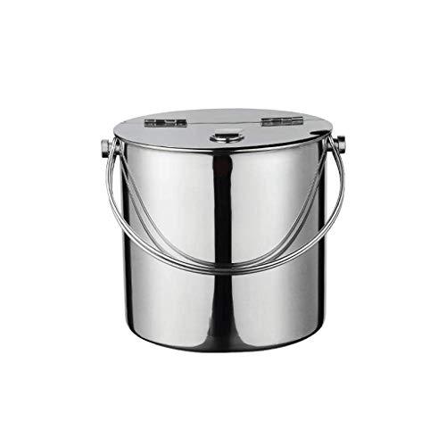 XJJZS Seau à Glace, Glace Portable Durable en Acier Inoxydable Seau - Tong Couvercle for Bar Kitchen Party de Pique-Nique de Refroidissement Plus de Temps au Lave-Vaisselle (Size : 4.8L)