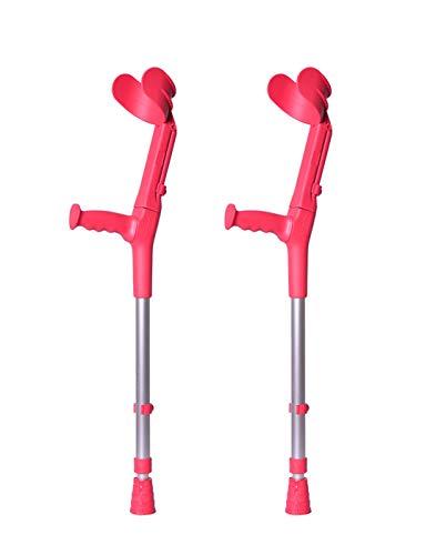 Forta, Muletas 2 uds rojo coral de codo birregulables infantiles, infantil QA-00153/03LOT