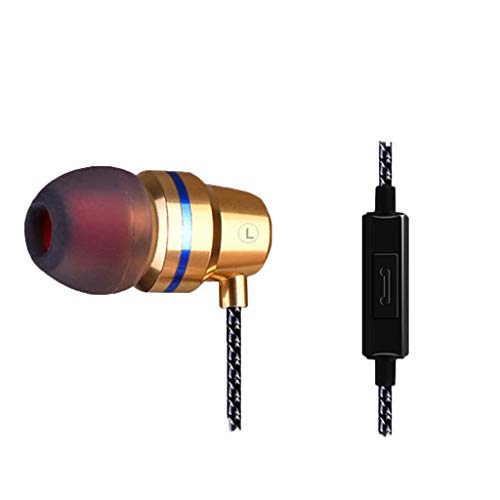 OPAKY New Headphone QKZ DM1 In-Ear Earphone Headset with Mic 3 Colors Gaming Headset, für iPhone, iPad, Samsung, Huawei,Tablet usw
