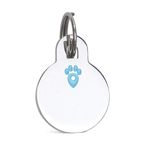 INTELLITAG Pet Notify Smart Pet ID Animal Recovery System - Personalized Stainless Steel Tag Engraved w/Pet's Name & Digital ID - Web Enabled PetVault App - Owner Contact & Protection - Dogs & Cats