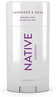 Native Deodorant - Natural Deodorant Made without Aluminum & Parabens - Lavender & Rose