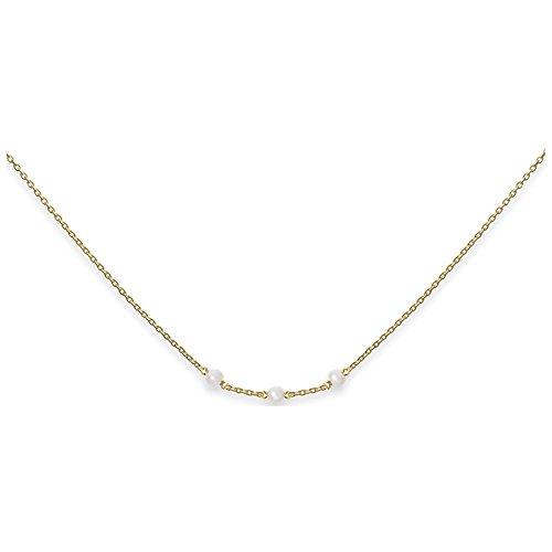 Heart to Get Kette Silber vergoldet mit Perlen N308TGBP16G