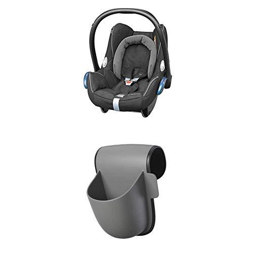 Maxi-Cosi Rodi SPS, Kinderautositz Gruppe 2/3 (ab 3, 5 Jahre bis ca. 12 Jahre, 15-36 kg), carbon black (grau) + Pocket Becherhalter, grau