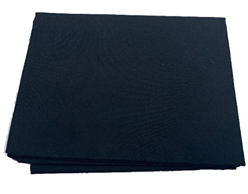 Black 100% Cotton Material Prepackaged by The Yard