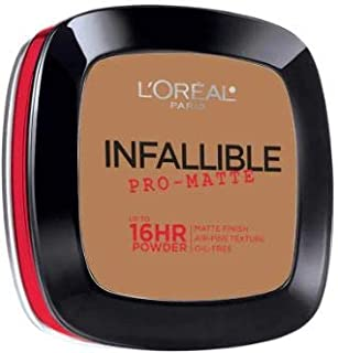 L'OREAL Infallible Pro-Matte Powder Classic Tan 30g -Our 1st 16H mattifying Powder Foundation Inspired by Japanese Two-Way Cake which Provides high Coverage
