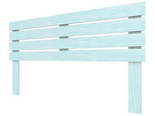 LA WEB DEL COLCHON - Cabecero de Madera Rústico Lombardía para Cama de 180 (190 x 100 cms) Turquesa   Cabeceros Madera   Dormitorio Matrimonio   Cabezal Cama  Estilo nórdico