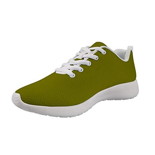 Amzbeauty Zapatillas deportivas para mujer, diseño clásico de color sólido, color Verde, talla 38 EU