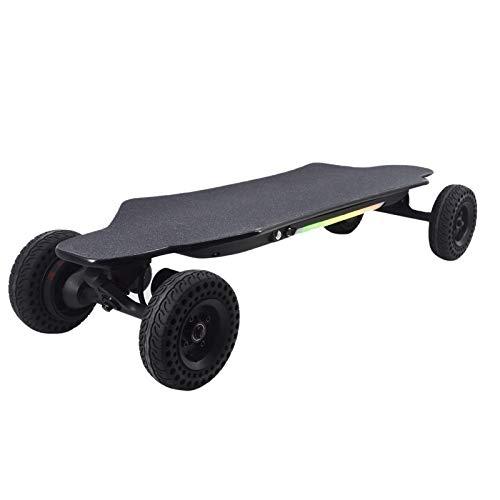 OFFA Skateboard Elettrico Longboard per Adulti 40km / H, 38'Skateboard Elettrico con Remoto Wireless, Adolescenti Cruisori Skateboard Deck 2000W Dual Motore, Tavola da Skate off-Road (Color : A)