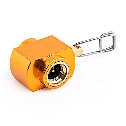 Adaptador Estufa de Camping al Aire Libre, la Carga de Gas Estufa Horno de conversión de Gas Adaptador de Recarga de Cilindros Accesorios Naranja