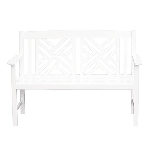 achla outdoor benches Achla Designs Fretwork Bench