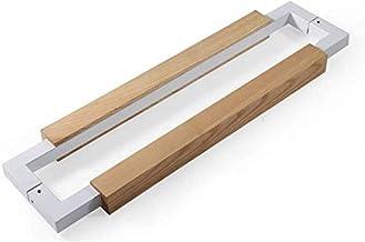 Furniture Handle Modern Office Roestvrij staal Glas deurkruk Solid Wood Framed Sliding for Cupboard kledingkasten (Kleur: ...