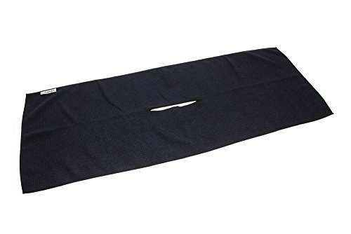 Center Cut Microfiber Golf Towel 16'x40' (Black)