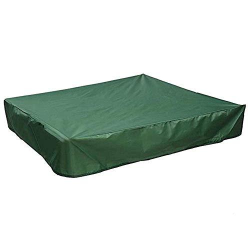 Cubierta de Caja de Arena Portátil Plegable Protección Impermeable Caja de Arena Cubierta de Caja de Arena Jardín Patio Cuadrado Multicolor Juguete Para Niños Cubierta de Foso de Arena (Green-S)