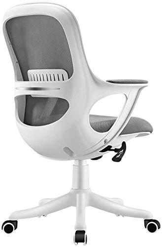 Silla de Oficina Ordenador Butaca giratoria de Cuero de Escritorio Silla ergonómica reclinable Ajustable en Altura, 360 ° Rotación Sillón