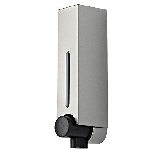 Einkopf,Seifenspender,Wandhalterung,Hotel Dusche dispenser,Manueller soap-dispenser,Home Gel-duschkabine Shampoo box-Silber