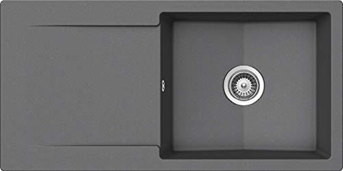 SCHOCK Küchenspüle 100 x 50 cm Epure D-100L Croma - CRISTALITE Granitspüle ab 60 cm Unterschrank-Breite