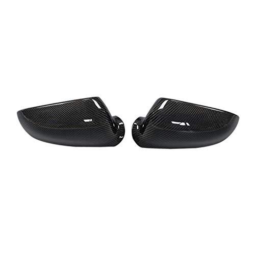 ZSYLOVE ZHANGSUYUAN Lado de Fibra de Carbono Vista Trasera Cubierta de Espejo de reemplazo para-Volkswagen Golf 5 mk5 GTI r32 2006-2009 (Color : Carbon Fiber)