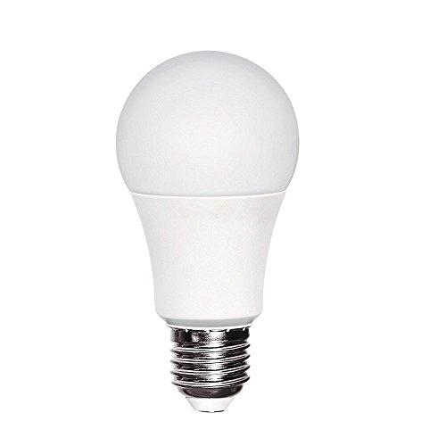 Bombilla LED A60 10W (equivalente a 60W) Luz neutra (4200K) no dimmable. E27.806 Lm. 25000 horas de vida. Encendido ultrarrapido (encendido al 100 % en 0,5 sg). [Clase de eficiencia energética A+]