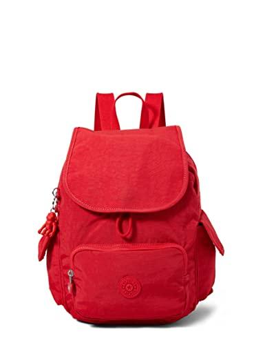 Kipling Mochila para mujer City Pack S, Color rojo., 19x27x33.5 cm, Bolso de mano.