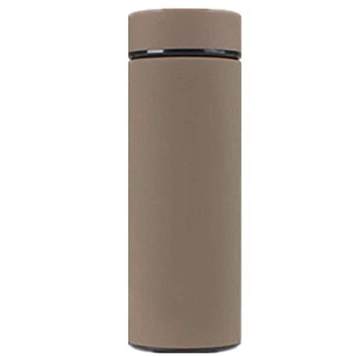 ZYLLL Thermoskanne Tasse 304 Edelstahl Isolierflasche Tee Reisekaffee Thermobecher Braun 3 380ml