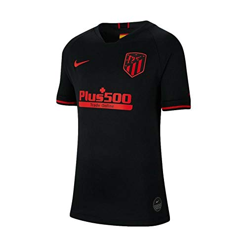NIKE 2019/20 Stadium Away Camiseta 2ª Equipación Atlético De Madrid 19-20, Unisex Adulto, Black/Challenge Red, L