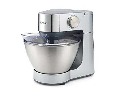 Kenwood Prospero KM283 leistungsstarke Küchenmaschine (900 W, 4,3 l Edelstahl-Rührschüssel, inkl. 3 Rührelementen, Glas-Mixaufsatz, Multi-Zerkleinerer, Zitruspresse, Spritzschutz) silber