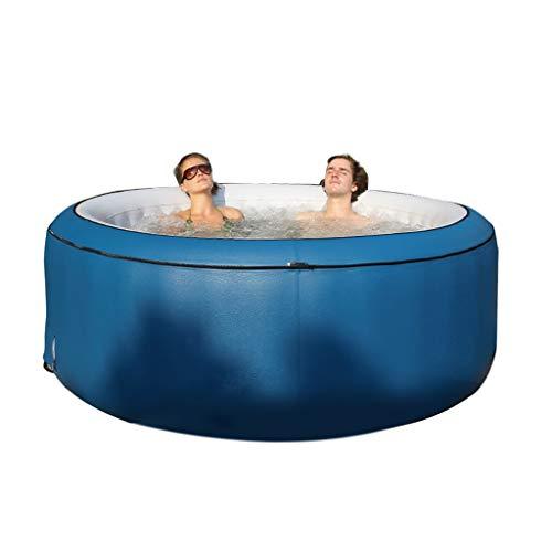 MaquiGra Bañera Inflable de hidromasaje Jacuzzi para 2-4 Personas 700L Piscina Hinchable de Jacuzzi SPA Inteligente Bañera climatizada Inflable al Aire Libre con Funcion de Masaje (Azul)