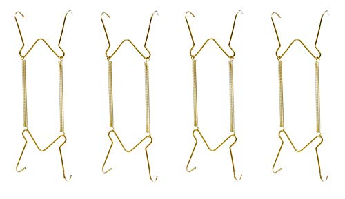 Hillman 122048 Plate Hangers 5-1/2'-8' with Tip Protectors, Sold as 4 Pack