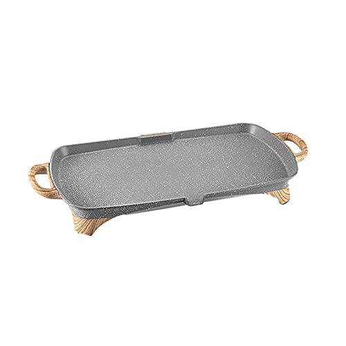 Plancha electrica para cocinar Diseño de Temperatura Constante Grill ,Doble Revestimiento Antiadherente...