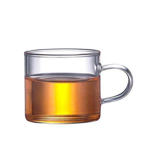 Tetera De Vidrio Teteras Tetera de vidrio 550/750 / 850ML Tetera de vidrio resistente al calor Juego de té de flores Hervidor de agua Tetera de café Juego de vasos Tetera de acero inoxidable-120ml