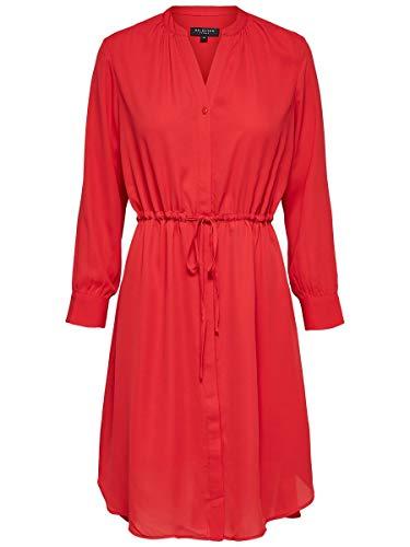 SELECTED FEMME Slfdamina 7/8 Dress Vestido, Rojo (True Red True Red), 42...