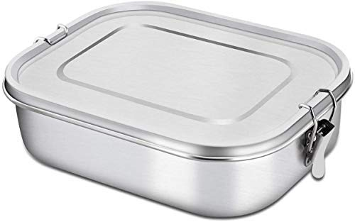 Rhinobox Premium lunch box stainless steel | FREE spoon | Our eco lunch box is...