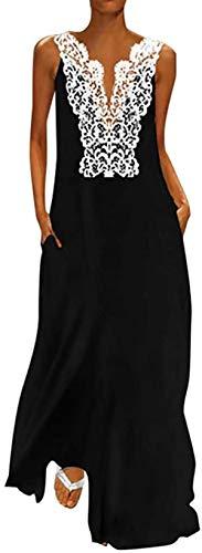 DamonRHalpern Women Daily Casual Sleeveless Cotton-Blend Printed Summer Dress
