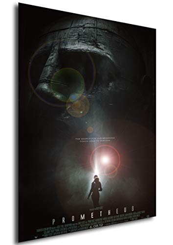 Instabuy Poster Prometheus - Dunkle Zeichen Vintage Theaterplakat - A3 (42x30 cm)