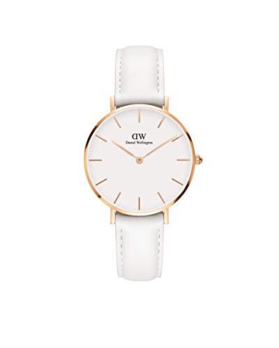 Daniel Wellington Petite Bondi, Reloj Blanco/Oro Rosado, 32mm, Cuero, para Mujer