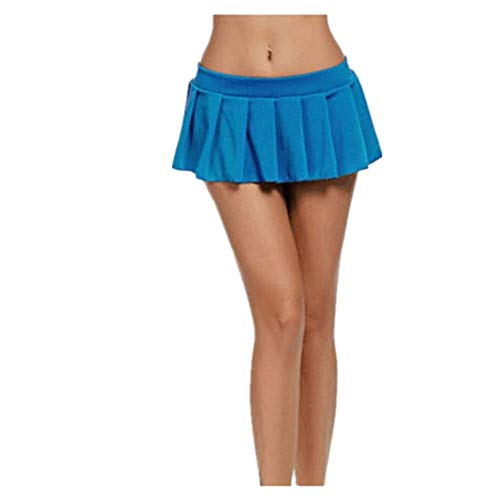 N\P Sexy Mujer Plisado Micro Falda Fiesta Mini Falda Ropa de Dormir Más Tamaño Ropa De Señoras - blanco - X-Large