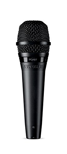Shure PGA57 Dynamisches Instrumentenmikrofon mit Nierencharakteristik, inkl. XLR-Kabel Schwarz PGA57-XLR