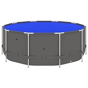 Susany Piscina con Estructura de Acero Piscina de Suelo Piscina de Jardín Exterior Azul 457×122 cm