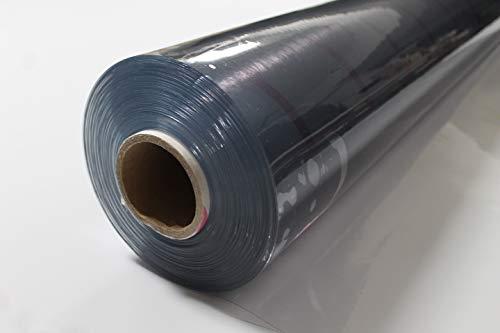 Klarsichtfolie PVC transparente Plane/Stärke: 0,5 mm/Breite: 1,40m (Meterware) (1,40m x 1m)