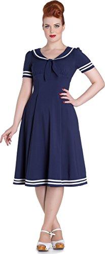 Hell Bunny Damen Kleid Ambleside Matrosen Kleid Blau S