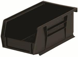Akro-Mils 30220ESD İstiflenebilir ve Asılabilir ESD Akrobin - Black44; 24'lü Paket